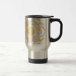 abstrakt/Stammes-/Celtic - Silber und Gold Reisebecher