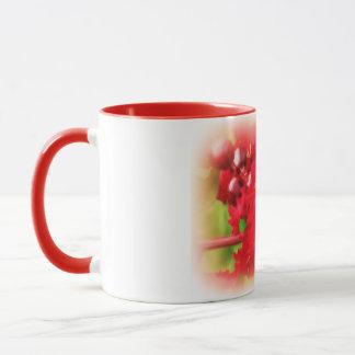 Abstrakt von einer roten Myrte Bush Tasse