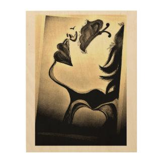 Abstrakt, Wand-Kunst Holzdruck