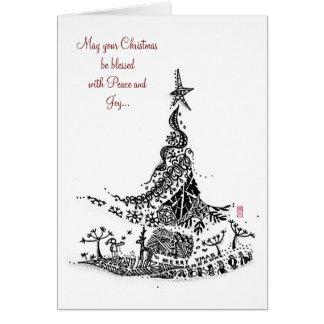 Abstrakt: Weihnachtsbaum Grußkarte