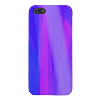 Abstrakte Bänder von Blauem und von violettem iPhone 5 Etui