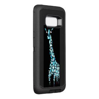 Abstrakte blaue Giraffen-lustiges Tier OtterBox Defender Samsung Galaxy S8+ Hülle
