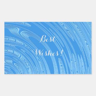 abstrakte blaue metallische Beschaffenheit Rechteckiger Aufkleber