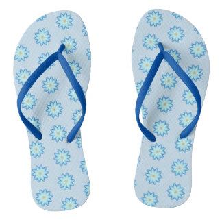 Abstrakte blauer Lotos-Blumen, die Purzelbäume Flip Flops