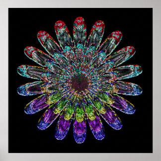 Abstrakte Blume Poster