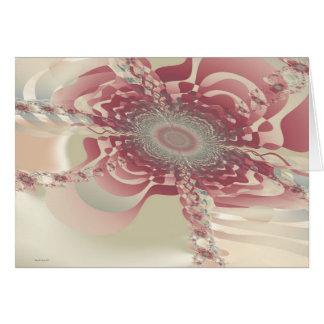 Abstrakte Blume uF Karte
