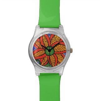 Abstrakte Blume Uhr