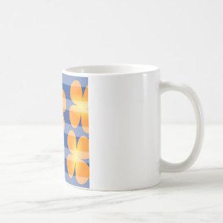 Abstrakte Blumen-Blumen-Briefmarken Kaffeetasse