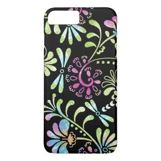 Abstrakte Blumen des Grüns und des Rosas iPhone 7 Plus Hülle