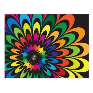 Abstrakte bunte Blume Postkarte