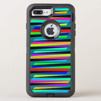 Abstrakte bunte Linien OtterBox Defender iPhone 8 Plus/7 Plus Hülle