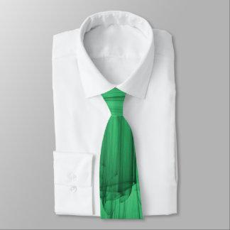 Abstrakte Bürste-Anschläge im Grün Krawatten