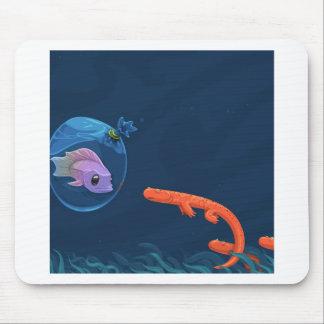 Abstrakte coole Fisch-Taschen Mousepads