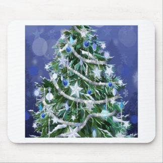 Abstrakte coole Weihnachtsbaum-Zeiten Mousepads