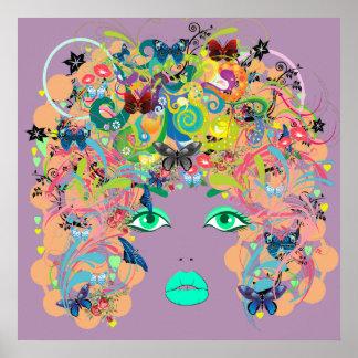 Abstrakte Dame Poster