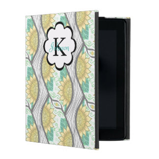 Abstrakte dekorative Sonnenblume Personalizable iPad Etui