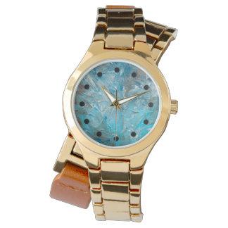 Abstrakte die feine Kunst-Uhr aquamariner Impasto Armbanduhr