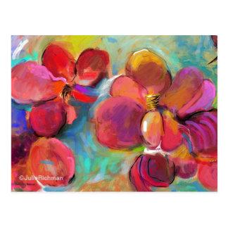 Abstrakte Digital-Blumen-   Postkarte 6