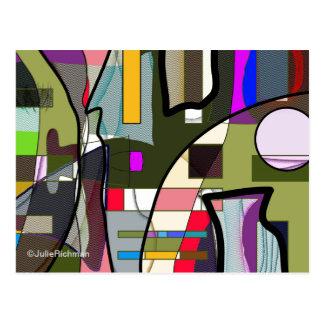 Abstrakte Digital-Erforschungs-Postkarte Postkarte