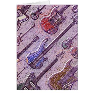 Abstrakte elektrische Gitarren Karte