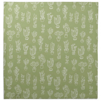 Abstrakte Expressionismus-Kaktus-Linie Stoffserviette