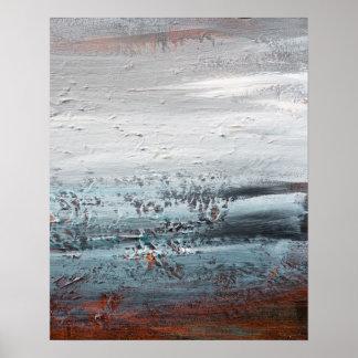 Abstrakte Expressionist-Landschaft Poster