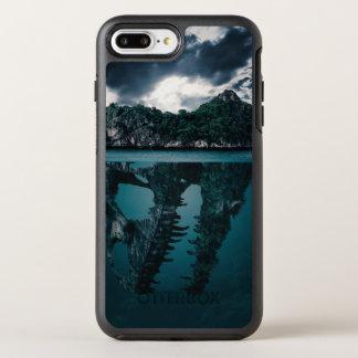 Abstrakte Fantasie-künstlerische Insel OtterBox Symmetry iPhone 7 Plus Hülle