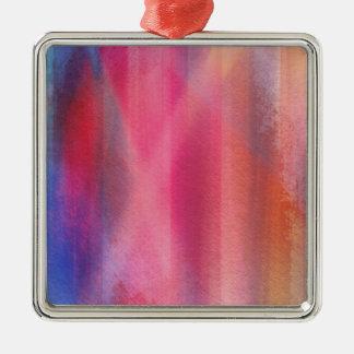 Abstrakte Farben Quadratisches Silberfarbenes Ornament