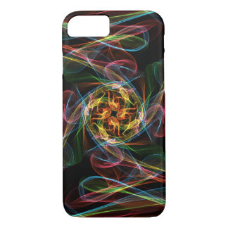 Abstrakte farbige Flammen iPhone 8/7 Hülle
