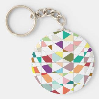 Abstrakte Farbtapisserie Schlüsselanhänger