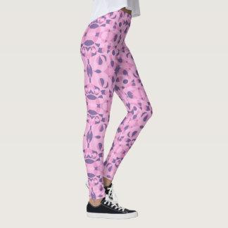 Abstrakte Formen rosa und lila Gamaschen Leggings