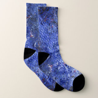 Abstrakte Galaxie-Blau-Socken Socken