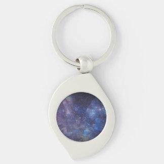 Abstrakte Galaxie-Labradorit-Prämie Keychain Schlüsselanhänger