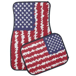 Abstrakte Gekritzel USA-Flaggen-Auto-Matten Autofußmatte