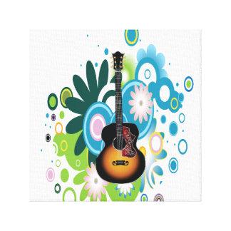 Abstrakte Gitarre eingewickelte Leinwand Gespannte Galerie Drucke