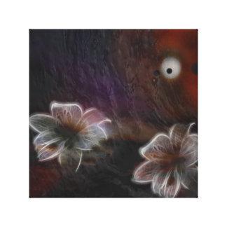 Abstrakte glühende Blumen Leinwanddruck