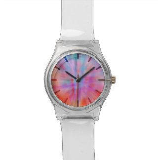 Abstrakte große Knalle 002 mehrfarbig Armbanduhr