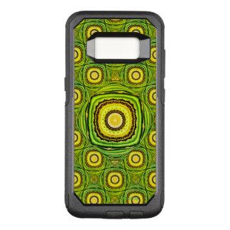 Abstrakte grüne und gelbe Muschel wie Entwurf OtterBox Commuter Samsung Galaxy S8 Hülle
