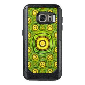 Abstrakte grüne und gelbe Muschel wie Entwurf OtterBox Samsung Galaxy S7 Hülle