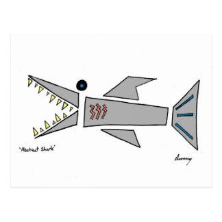 Abstrakte Haifisch-Postkarte Postkarte