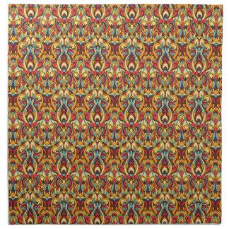 Abstrakte Hand gezeichnetes Muster. Warme Farben Serviette