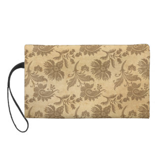 Abstrakte Herbst-/Fall-Blumen-Muster Wristlet Handtasche