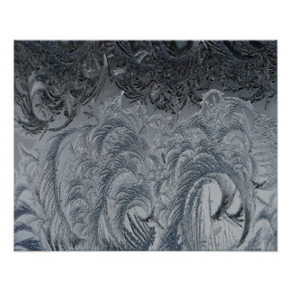 Abstrakte Hintergrund-Grau-Federn Poster