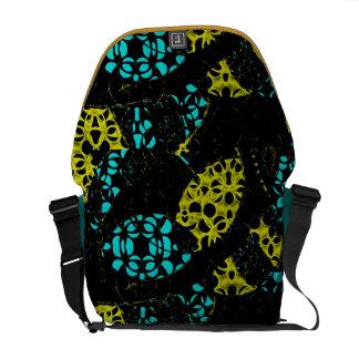 Abstrakte Kreis-Rickshaw-Bote-Tasche Kurier Taschen