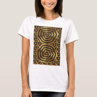 Abstrakte Kunst der Goldgoldenen Welle auf Shirts