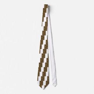 Abstrakte Kunst der Goldgoldenen Welle auf Shirts Krawatten
