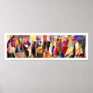 Abstrakte Kunst durch Sonia Delaunay - TangoBal Poster