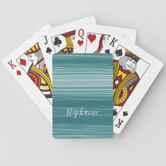 Abstrakte Kunst mit modernem Skript-Namen Spielkarten