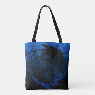 Abstrakte Kunst Yin Yang mit Grunge-Effekt-Tasche Tasche