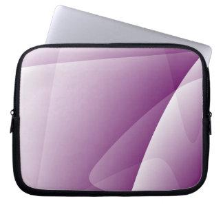 "Abstrakte lila weiße Neopren-Laptop-Hülse 10"" Laptop Sleeve"